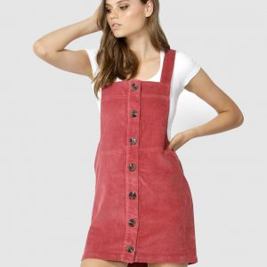 21bb002df69 SASS Candid Cord Pinafore – Berry
